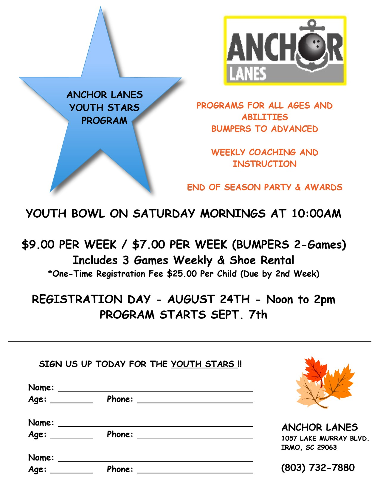 Youth Leagues are FUN!  Come Join Us